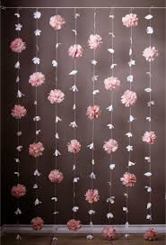 Paper Flower Backdrop Garland Paper Flower And Tissue Paper Puff Garland Flower Backdrop