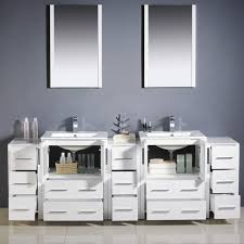 modern 84 inch white double basin sink vanity 3 sides fvn62 72wh uns