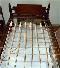 Bed Roping - The direction of the rope is noted on the layout of the rope