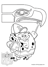 free seattle seahawks coloring pages seattle seahawks the nfl team for superfan spongebob squarepants
