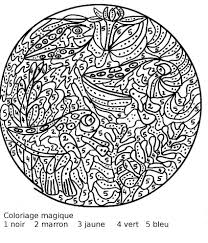 Coloriage Magique Difficile Imprimer L L L L L L