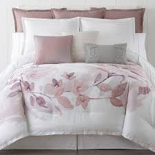 home and furniture traditional pink fl comforter on blue sets queen within set ideas 3