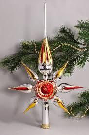Christbaumspitze Stern Reflex Silber Gold Rot Weihnachtsbaumspitze Aus Glas