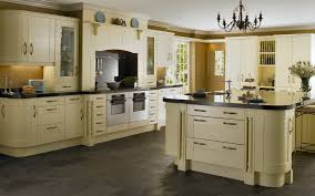 Granite With Cream Cabinets Pendant Lamp L Shaped White Wood Cabinet Cream Granite Countertop