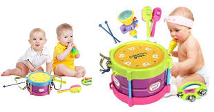 HOT Walmart Deal on **Baby Concert Toys 5PC New Roll Drum Musical Instruments Band Kit ** Walmart: Baby