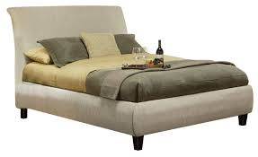 Phoenix Bedroom Furniture Phoenix King Platform Bed In Beige 300369ke