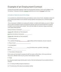 Free Employment Contract Templates 40 Great Contract Templates Employment Construction Photography Etc