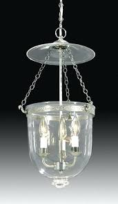 century hall lantern with clear glass dome bell jar chandelier cobalt early style lanterns or bell jar