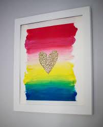 diy glitter heart wall art tutorial