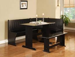 corner furniture piece. Breakfast Nook 3 Piece Corner Dining Set Images Furniture Popular Design Masculine Black With Nice Linon Bradford Finish Blk Incredible Picnic Table 2018