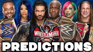WWE WrestleMania 37 Predictions - YouTube