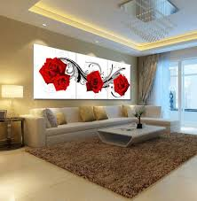 Painting For A Living Room Aliexpresscom Buy Picture Oil Painting Roses Flower Living Room