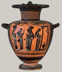 Grecian Pottery Designs Athenian Vase Painting Black And Red Figure Techniques