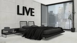 Modern Bedroom Tumblr Ebonix Ts4 Cc Reblogs Mxims Stylish Modern Bedroom Bed Without