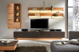 contemporary tv wall unit wooden glass