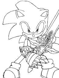 Sonic Coloring Pages Shadow At Getdrawingscom Free For Personal