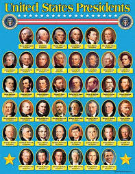 Us Presidents Chart United States Presidents Learning Chart List Of Us