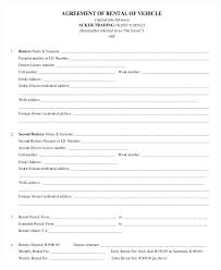 One Page Lease Agreement One Page Rental Agreement Template Lease South Vehicle