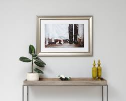 country framed print in unique silver
