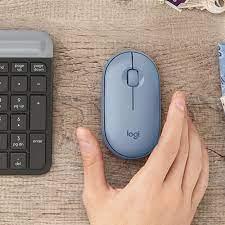 Chuột Không Dây Siêu Mỏng Bluetooth Logitech Pebble M350 2.4g Dpi 1000 Cao  Cấp Dành Cho IPad Laptop