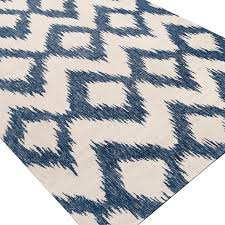 minimalist ikat area rug at jayceon blue cream reviews joss main