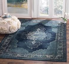 blue medallion area rug