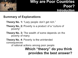 pols foundations of comparative politics lecture why are poor summary of explanations theory no 1 lazy people don t get rich