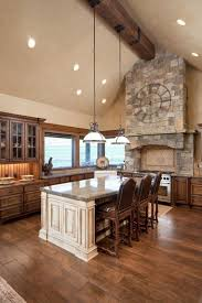 wood flooring ideas. Exellent Ideas Twotoned Wooden Floor And Brushed Island Really Give This Space A  Rustic Atmosphere Throughout Wood Flooring Ideas D
