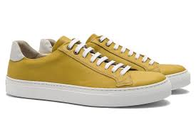 yellow genuine leather shoes 0