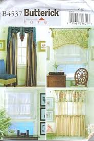 Curtain Sewing Patterns Mesmerizing Amazon Butterick 48 Sewing Pattern Cafe Curtains Valance