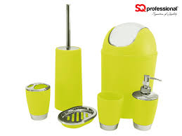 Lime Green Bathroom Accessories Set