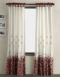 Bedroom Window Curtain Red And White Window Curtains
