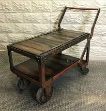 cart style coffee table factory cart coffee table salvaged re purposed industrial barn legs coffee tables