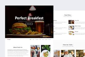 Food - Restaurant HTML Template ~ HTML/CSS Themes ~ Creative Market