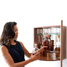 karvd hitch wall mounted liquor cabinet