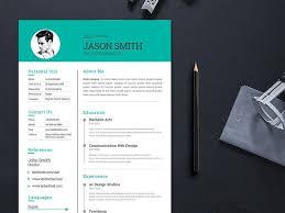 modern clean resume template free modern and clean cv template for job seeker