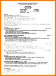 Undergraduate Student Resume Free Resume Example And Writing