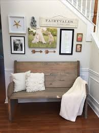 foyer furniture ideas. entryway with church pew bench and gallery wall foyer furniture ideas y
