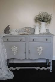 shabby chic grey sideboard, cabinet annie sloan chalk paint
