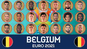BELGIUM SQUAD EURO 2021 - YouTube