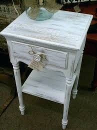 distressed off white end tables rustic side table using ash farmhouse paint dining and chairs w