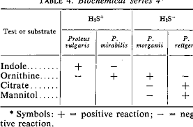 Table 4 From Biochemical Differentiation Of The