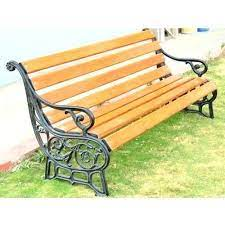 seater cast iron garden bench