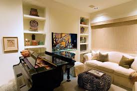 ... SMall Living Room Beautifully with Aquarium in Shelves ...