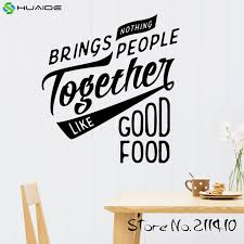 nothing brings people together like good food wall decal sticker for kitchen room tile wall art on wall art pictures of food with nothing brings people together like good food wall decal sticker for