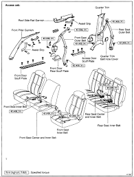 installation of seatbelt for toyota tundra sr5 rear seat left