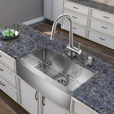 vigo 30 inch farmhouse a single bowl 16 gauge stainless steel kitchen sink with gramercy stainless steel faucet grid strainer and soap dispenser