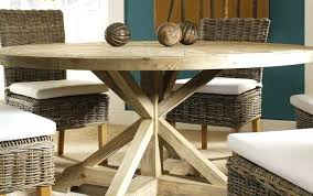 reclaimed wood round dining table and trestle set reclaimed base white extendable wood round weathered salvaged
