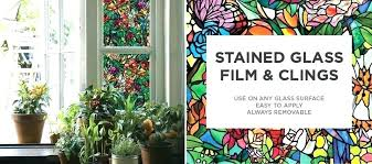 stained glass window sticker faux stained glass window clings fake stained glass window home a window