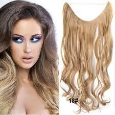 Flip In Vlasy Vlnitý Pás Vlasů 45 Cm Odstín 18